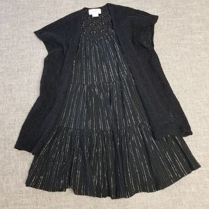Old Navy girls black dress and cardigan 4T
